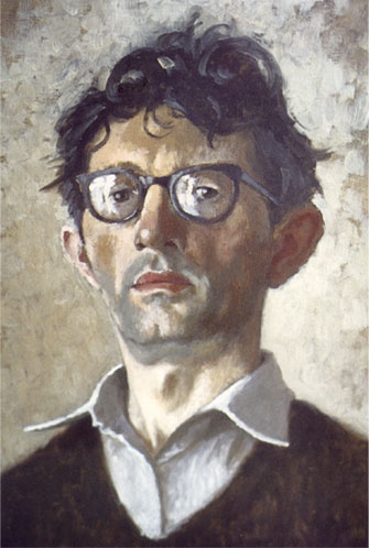 A self painted portrait of Norman Cornish