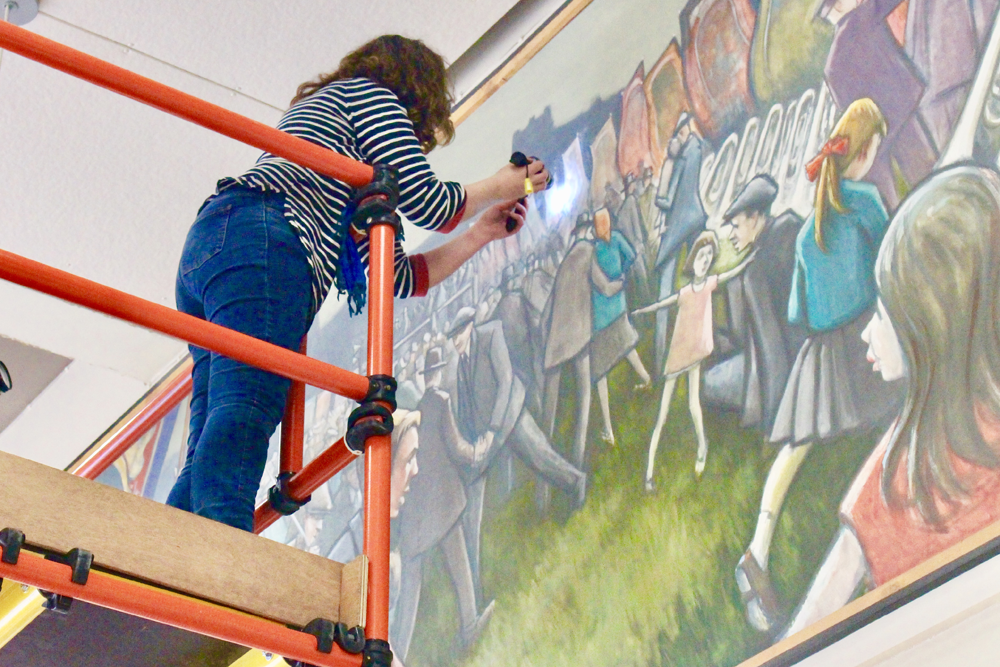 Durham County Hall Mural Inspection